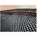 Black And White Woven Fabrics With Checks Design