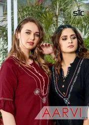 Rayon Half Sleeves Akshar Textile Aarvi Vol-2 Kurti Set Manufacturer