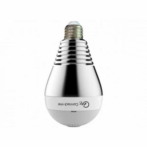 Cctv Hidden Spy Bulb Shape Fisheye 360 Panoramic Wireless Camera