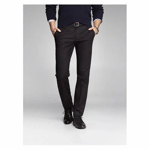 46bf31416c9 Cotton linen Mens Black Pant