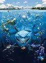 Blue Vinyl Nemo Shark Wall Mural, For Home Decor
