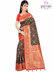 Traditional Printed Art Silk Saree By Parvati Fabric