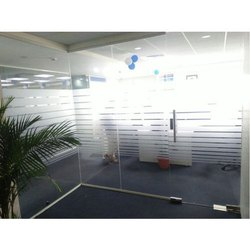 Demountable Frameless Glass Partition