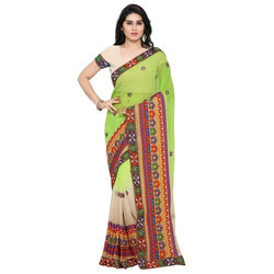 Multicolor Embroidered Saree