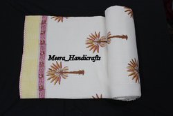 Hand Block Printed Machine Quilt