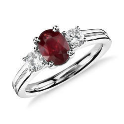 Five Stone Ring For Engagement Ruby Ring