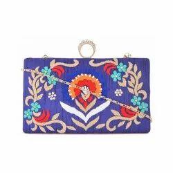Embroidery Designer Clutch Bag