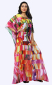 Printed Georgette Party Wear Women Kaftan Kurta 2018