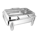 Rectangular Full Glass Chafer W Curved Legs