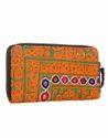 Orange & Green Vintage Hand Embroidered Clutch Bag
