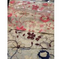 Polyester Embroidered Fabric, For Garments, GSM: 100-150 GSM