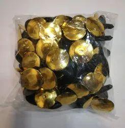 Gold Soft Toys Fancy Button Golden