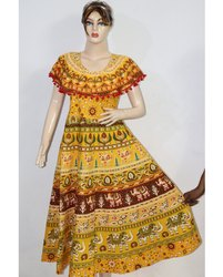 Jaipuri Printed Ladies Cotton Frock
