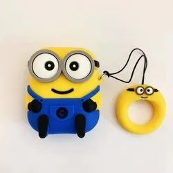 Minion Edition With Finger Ring Airpods Case