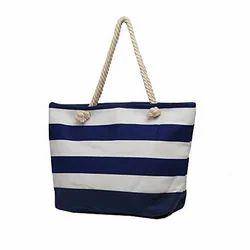 Striped Cotton Bag