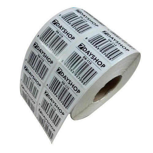 White Self Adhesive Barcode Label