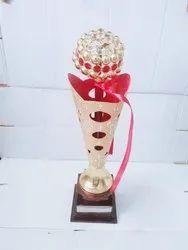 Gold Plating Metal Trophy