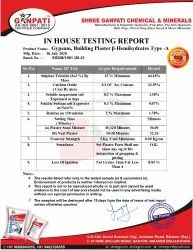 Gypsum Lab Test Report
