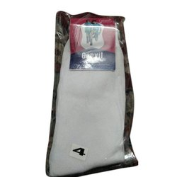 4 Inch Garvit Gold White Kids Cotton Socks, Packaging Type: Packet