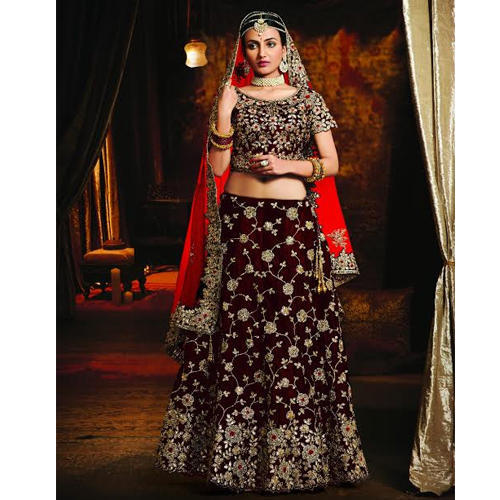 53cccb82b7 Embroidered Bridal Lehenga at Rs 6500 /piece | Embroidered Bridal ...