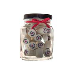 250 gm Square Fancy Glass Jar
