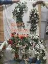 Artificialflower Silk D2457 Artificial Gernium Hanging Flowers, Packaging Type: Carton, Packaging Size: 240 Pieces