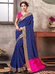 Party Wear Banglori Silk Weaving  Saree,6.3mtr
