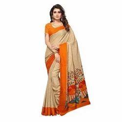 Party Wear Printed Designer Silk Saree