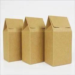 Cardboard Single Wall - 3 Ply Paper Packaging Box, Box Capacity: Below 1 gram