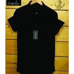 Mens Short Sleeve Plain Button Polo Shirt Top Cotton Casual S-XL
