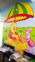 Cartoon Wall Painting For Preschool