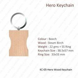 Wooden Keychain-KC-05-Hero Key chain