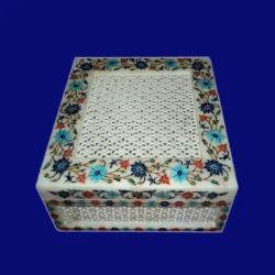 White Marble Luxury Jewelry Box