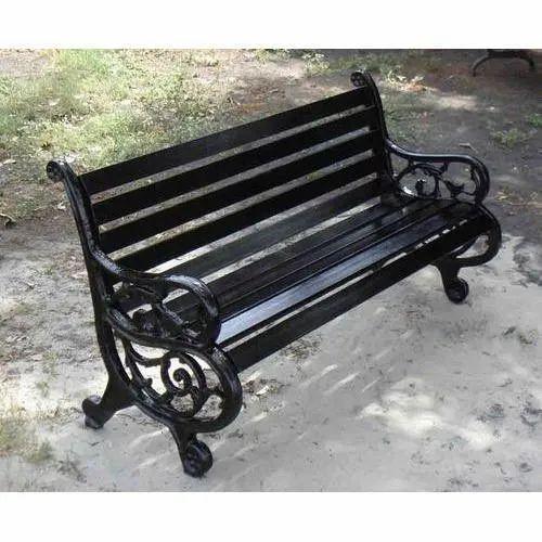 Cast Iron 3 Seater Garden Bench With, 3 Seater Cast Aluminium Garden Bench