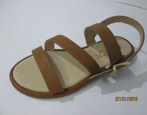 Women''s Shoes Pu(polyurethane) Summer Fall Sandals Flat Heel Round Toe Buckle Beige Yellow Pin
