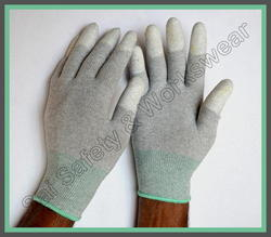 PU Finger Tip Coated ESD Gloves