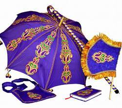Decorated Wedding Umbrella