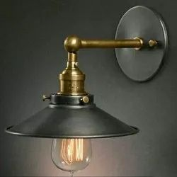 Iron And Brass Wall Lamp