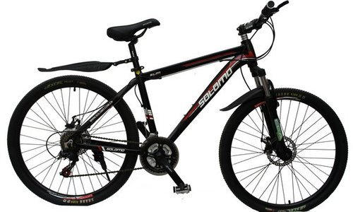 Black GoGoA1 SOLOMO Mountain Bicycle With Aluminum Frame And 26 In ...