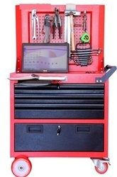 3DCWS Rolling Work Station With 3 Drawer & Cabin With Perforated Panel for Hanging Tools (Economy)