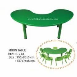 21 Balls Green Half Moon Table