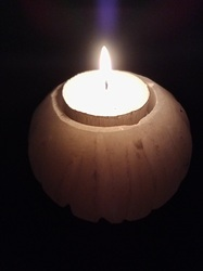 Translucent Selenite Candle Holder