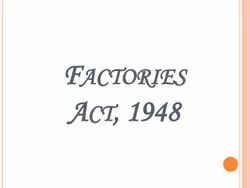 One Time FACTORIES ACT, License