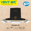 CROWN 4G Ventair Kitchen Chimney