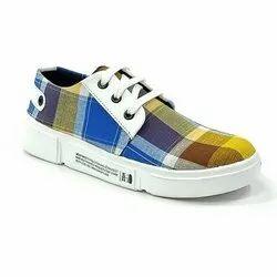 Ladies Casual Wear Canvas Shoes, Size: 4-7