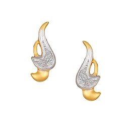Tanishq 18 Karat Studded Yellow Gold Stud Earrings