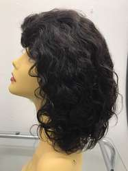 Black Lace Curly Side Wig