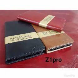 Leather Vivo Z1 Pro Mobile Flip Cover, Size: 5.5 Inch