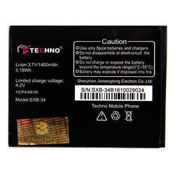 Techno Phone Lithium Ion Battery, Voltage: 3.7 V
