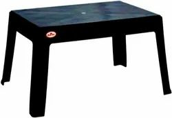 Sunrise Brown Plastic Table, Size: Height 700 Width 500 Depth 400, Model Name/Number: 6001
